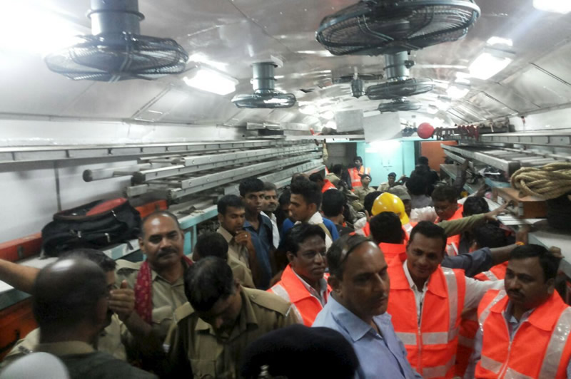 Two Trains Derail in India