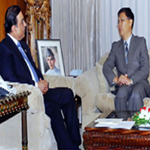 President, Chinese ambassador discuss flood situation