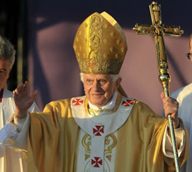 Pope Benedict XVI goes to war with 'atheist extremism'