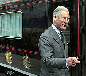 Prince Charles embarks on lavish train trip to spread green message