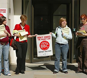 BBC staff vote for strike over pensions