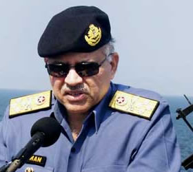 CNS Admiral Noman Bashir performs commissioning of 3rd F-22 P Frigate PNS Saif