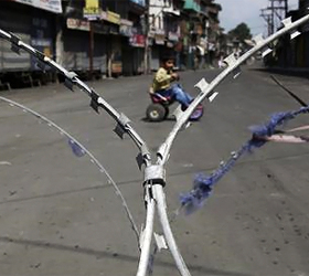 Curfew in some parts of Kashmir Valley