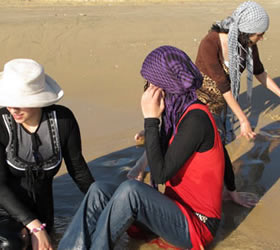 Sun, sea and grit: Israeli and West Bank women risk jail for day at the beach