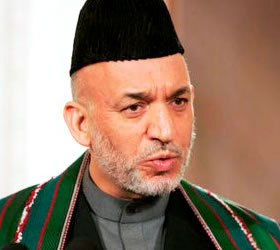 Karzai arrives on a two-day visit