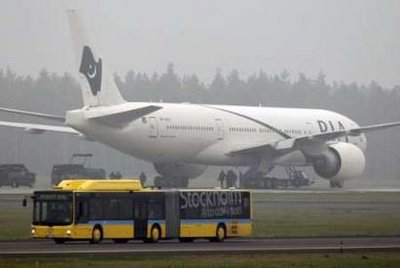 PIA plane evacuated in Sweden after bomb threat