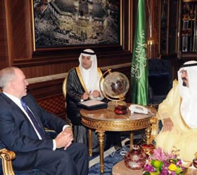King Abdullah meets US security official