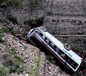 School bus plunges into Jhelum river