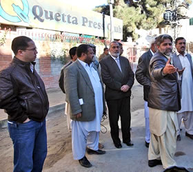 Secretary Information visits Quetta press club