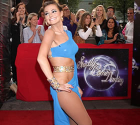 Strictly Come Dancing 2010: Kara Tointon puts on her dancing shoes and a barely-there dress