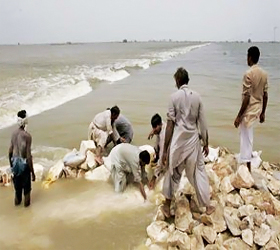Water level exceeds maximum limit at Manchar Lake