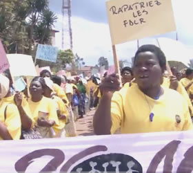 Congolese rape victims march against sexual violence