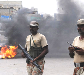 Karachi: Security forces step up patrols as 4 more killed