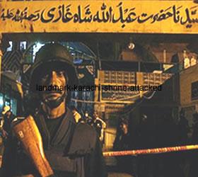 Landmark Karachi shrine attacked