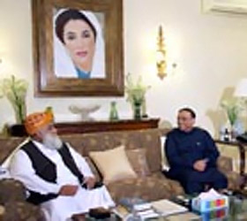 Maulana Fazal-ur-Rehman calls on President Asif Zardari