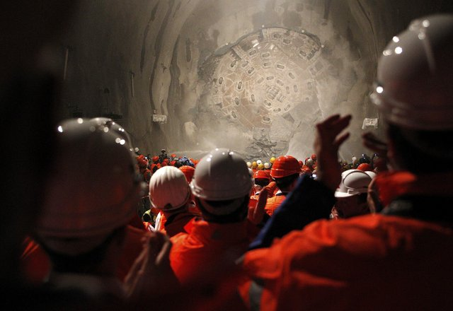 Swiss complete world's longest rail tunnel
