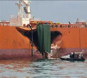 Vessels collide in waters off France