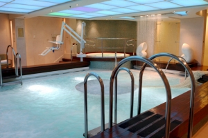 Luxurioius health spa featured in The Queen Mary 2