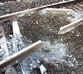 Explosion on railway track in Nawabshah