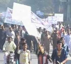 Jhehlum: Protest against gas loadshedding