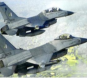 Six F-16s land in Pakistan