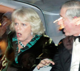 Tuition hike protesters attack car carrying Prince Charles, Camilla