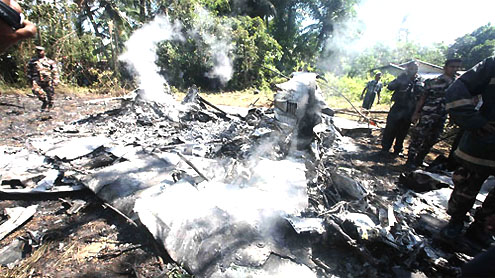 Air force jets crash during practice in Sri Lanka