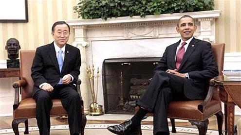 Obama, UN Secretary-General Meet on Libya