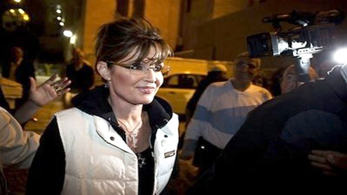 Palin stays mostly out of sight for Israel visit