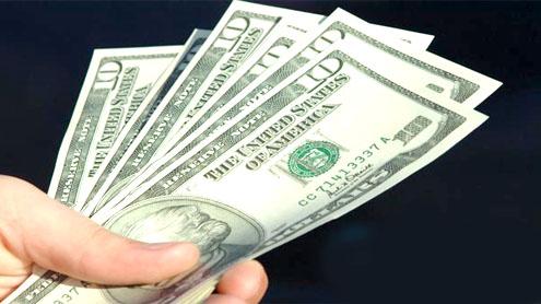 THE RUPEE: dollar higher