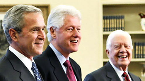 4 US presidents unite for NBC special