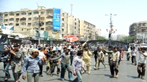Irked traders protest against unrestrained extortion