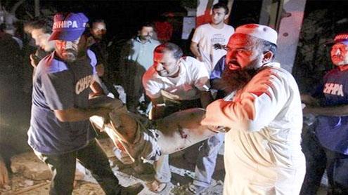 Karachi blast kills 16, injures 35