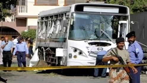 Karachi: Four killed, 56 injured in Pak Navy buses attack