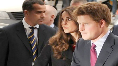 Kate and best man Harry rehearse for royal wedding