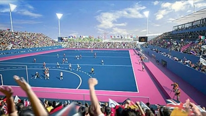 London 2012 Olympics opts for blue hockey pitches