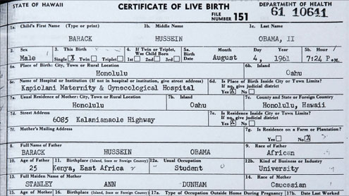 Obama releases long form birth certificate times of pakistan the yadclub Gallery