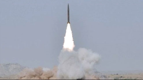 Pakistan test fires nuclear-capable cruise missile