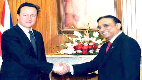 Zardari, Cameron pledge to work together to consolidate Pak-UK ties