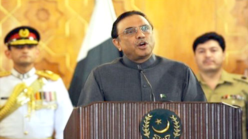 Zardari, Gul vow to work hand in hand to create vibrantly growing economies