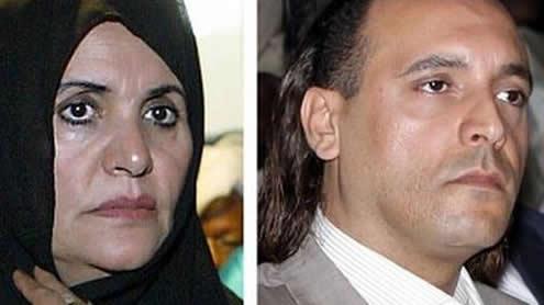 Qaddafi's wife, three children in Algeria