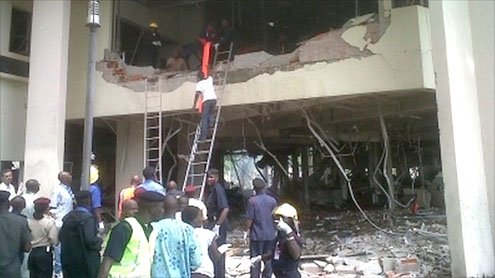 Abuja attack: Car bomb hits Nigeria UN building