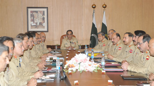 Corps Commanders discuss security situation in country