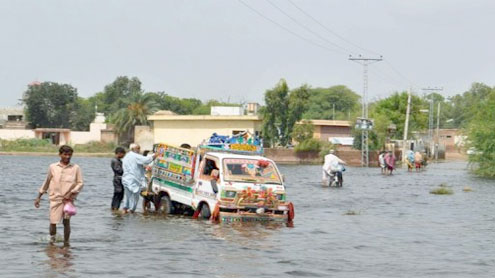 Floods in Sindh make 60,000 homeless