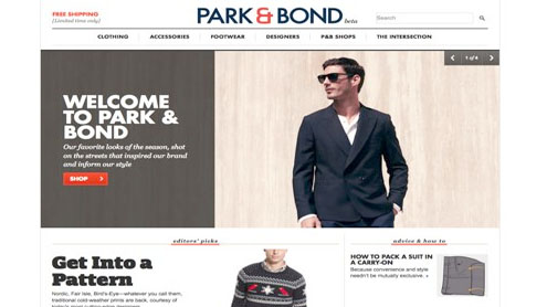 Gilt launches men's site Park & Bound