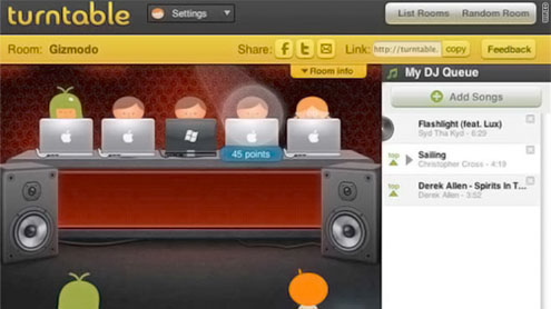Group listening rooms turn up volume on Web music