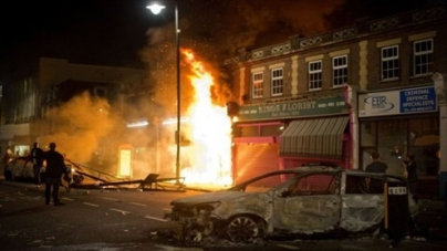 Fires, looting in London riot
