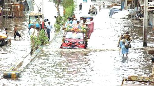 Monsoon Rains cause havoc in Interior Sindh