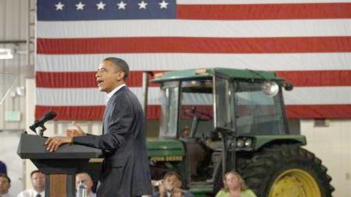 Obama blames Congress Republicans on bus tour
