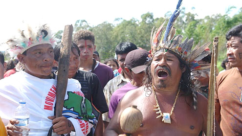 Indigenous campaigners occupy Belo Monte Amazon dam
